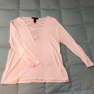 White long sleeve blouse - Forever 21